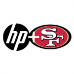HP and 49ers logos